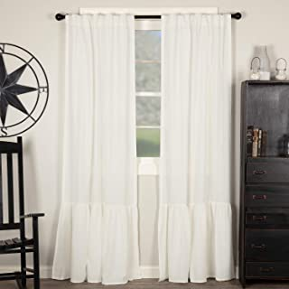 Piper Classics Annabelle High Ruffle Panel Curtains, Set of 2, 84
