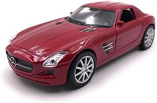 Onlineworld2013 Modellauto SLS AMG Zufällige Farbe! Auto Maßstab 1:34 39 (lizensiert)