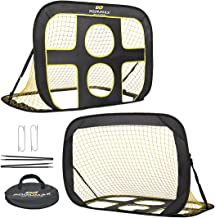 PodiuMax 2 in 1 Pop Up Kids Soccer Goal - Indoor/Outdoor Soccer Target Net for Improving Passing and Shooting Accuracy | Portable with Carrying Bag