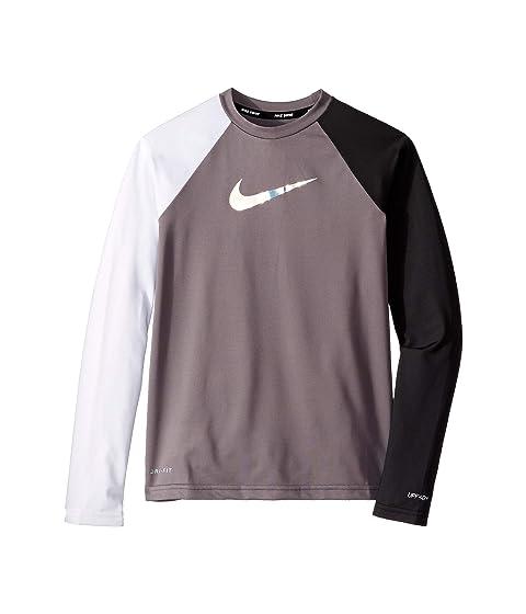 8bff60d3d Nike Kids Flash Long Sleeve Hydroguard (Little Kids/Big Kids) at ...