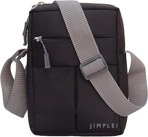 Nylon Cross Body Messenger Sling Bag Travel Office Business Messenger One Side Shoulder Bag For Men Women Black 20 X 9 X 26 Cm Black