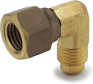Vis Brass SAE 45 Degree Flare Tube Fitting Coupling 1, 1//2 Flare x 1//2 NPT Female Adapter
