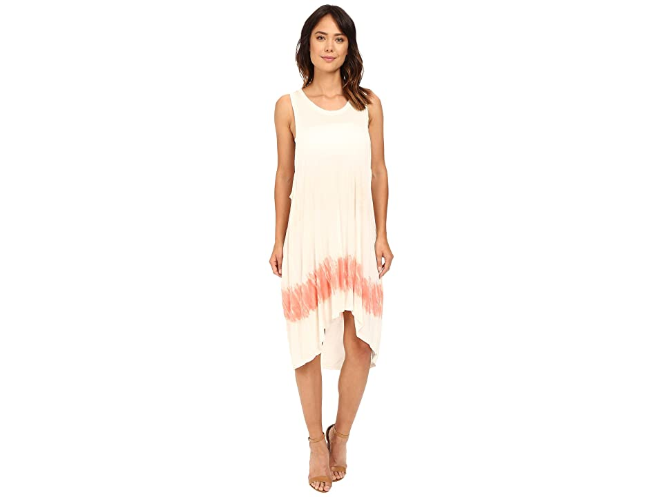 The Beginning Of Chamarel Dip-Dye Dress (Coral Colorway) Women