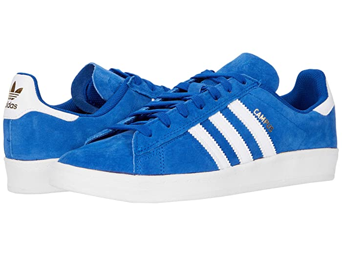 Mens Vintage Shoes, Boots | Retro Shoes & Boots adidas Skateboarding Campus ADV Collegiate RoyalFootwear WhiteGold Metallic 1 Skate Shoes $79.95 AT vintagedancer.com