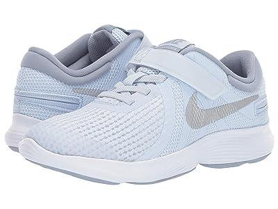 Nike Kids FlyEase Revolution 4 (Big Kid) (Half Blue/Metallic Silver/Obsidian Mist) Kids Shoes