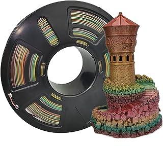 Stronghero3D PLA 3D Printer Filament 1.75mm Vertigo Galaxy Rainbow Multicolors Accuracy +/-0.05mm Net Weight 1kg(2.2Lbs) f...