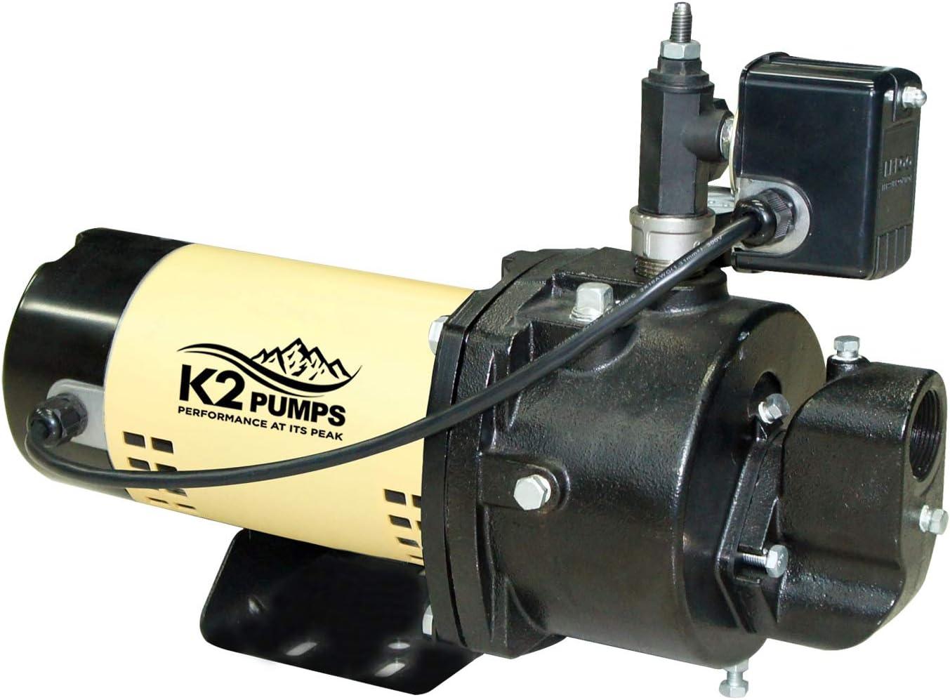 K2 Pumps WPD10001K 1 HP Convertible Pump Free shipping Iron Jet Time sale Cast
