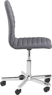 AC Design Furniture Alice Silla de Escritorio, poliéster, Gris, L: 52 x W: 61 x H: 94.5 cm