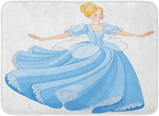 Emvency Doormats Bath Rugs Outdoor/Indoor Door Mat Princess The Royal Ball Dance of Cinderella Fairy Tale Dress Beautiful Bathroom Decor Rug Bath Mat 16