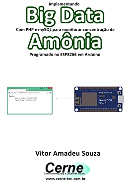 Implementando Big Data Com PHP e mySQL para monitorar concentração de Amônia Programado no ESP8266 em Arduino (Portuguese Edition)
