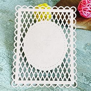 Dies Scrapbooking, Mikey Store Heart Xmas Cutting Dies DIY Stencils Scrapbooking Album Paper Card Craft (Square net)