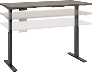 Move 60 Series by Bush Business Furniture 60W x 30D Height Adjustable Standing Desk in Cocoa with Black Base
