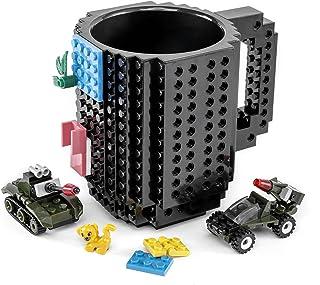 VANUODA Build-on Brick Mug, Buddy Coffee Cup, Santa Gifts Idea for Christmas, Unique Easter Father's Day Halloween Birthda...