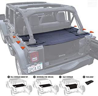 GPCA Wrangler Cargo Cover PRO - Reversible for TOP ON/Topless Jeep JKU Sports/Sahara/Freedom/Rubicon 4DR Unlimited 2007-20...