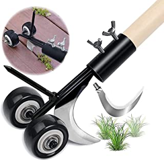 Weed Snatcher Tool, Manual Weeder Garden Tools Crack and Crevice Weed Puller Hook Weed Remover Extractor Tool, Two Blades,...