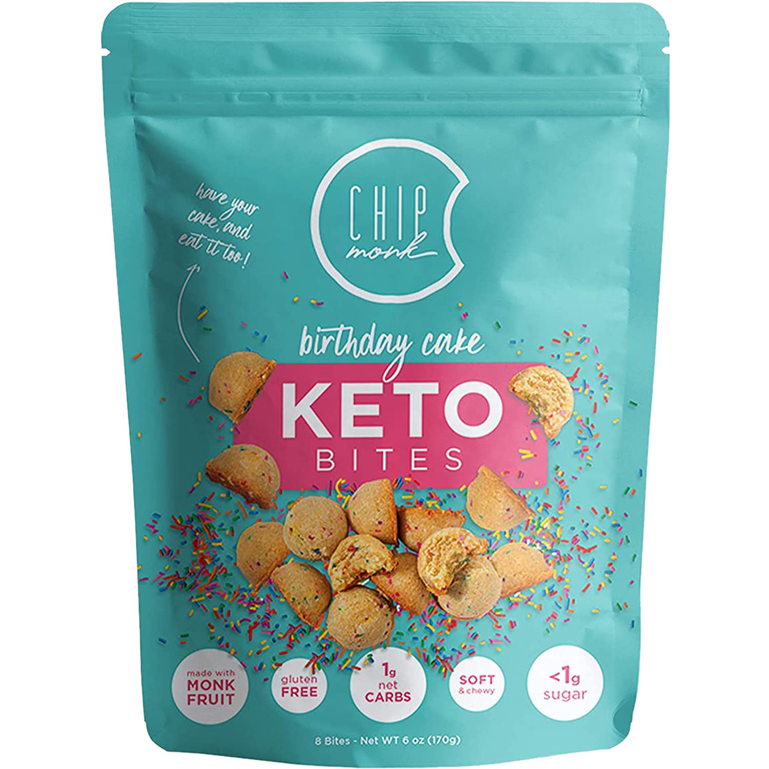 ChipMonk Keto Cookie Trust Bites Daily bargain sale - Snacks Low Zero or with Carb