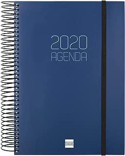 Finocam Agenda 2020 semana vista apaisada Espiral You Floral espa/ñol