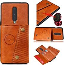 Ranyi OnePlus 8 Case, Wallet Cover with Credit Card Holder Slots Kickstand [Fits Magnetic Car Mount] PU Leather Double Buc...