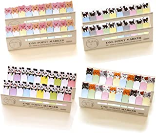 Lovey Cute Cartoon Animal Cat Pig Bear Sticky Notes Memo Pads Page Flag Markers Bookmarks for Office School Supplies 8 Pack