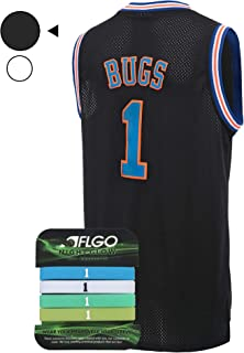 AFLGO Bugs #1 Space Jersey Basketball Jerseys Include Set Glow in The Dark Wristbands Halloween Costumes
