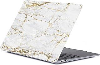 lllteri Funda Dura Compatible con MacBook Air 13 Inch(A1932) Case Gemalter Regenbogen Mármol Ultra Delgado Cubierta Protec...