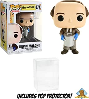 The Office Kevin Malone with Chili Vinyl Figure Featuring Golden Groundhog Plastic Protector Bundle