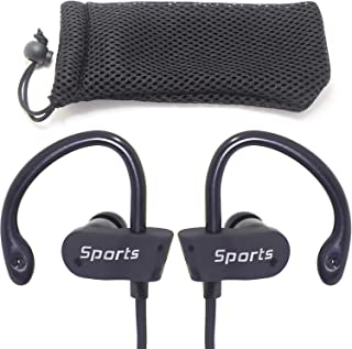 ZaxSound Wireless Bluetooth Sports Headphones Secure Inear Fit Earphones Design Bass with Mic Sweatproof Earbuds for Gym R...