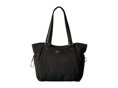 Vera Bradley Iconic Glenna Satchel (Classic Black) Bags