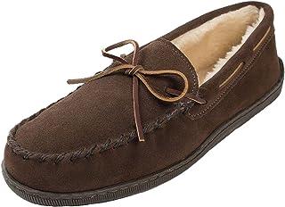 Minnetonka  Pile Lined Hardsole, Mocassins (loafers) homme - Marron - Brown (Chocolate), 48.5