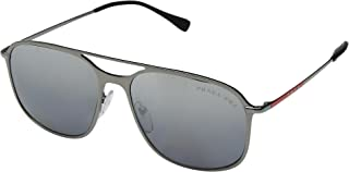 Prada Linea Rossa Casual Sunglasses For Men - Grey, Square Frame, 55 mm