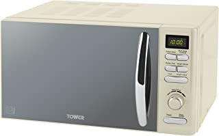 Tower T24019C Infinity Digital Solo Microwave with 6 Power Levels, 8 Auto Cook Options, 60 Minute Timer, Defrost Function,...