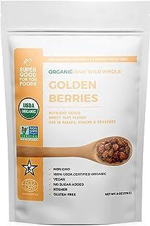 Super Good For You Foods Whole Sun-Dried Raw Golden Berries, USDA Certified Organic, Gluten-Free, Non-GMO, Vegan, No Sugar...