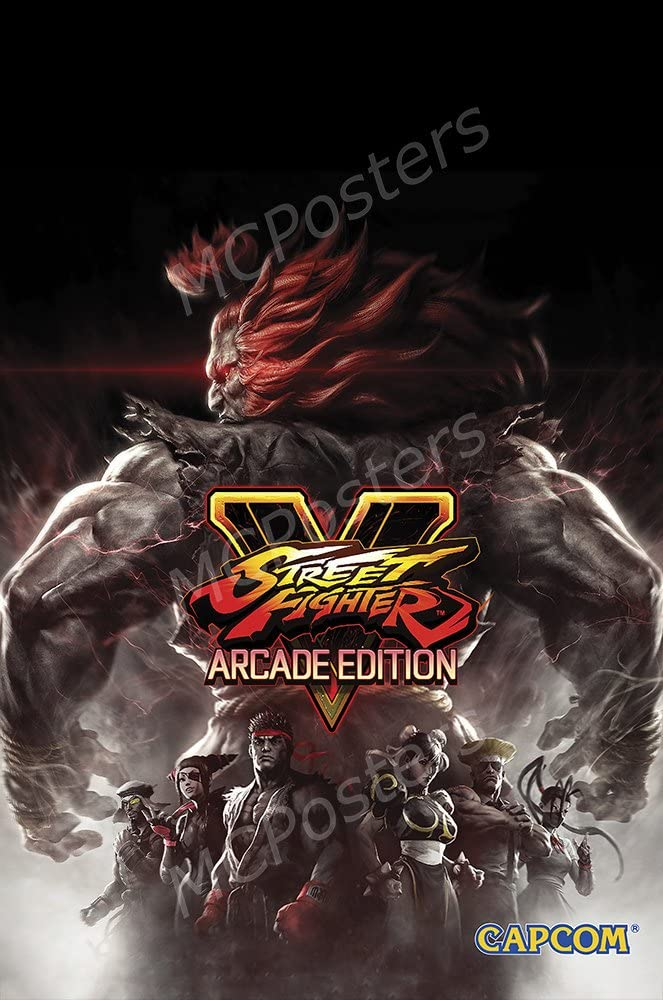 """007 Street Fighter V 5 Fighting Video Game 38/""""x24/"""" Poster"""