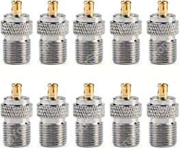 10Pcs Adapter 75 Ohm F TV Female Jack to MCX Male Plug RF Connector Straight Wire C