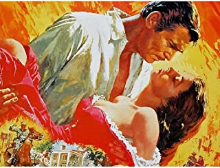 Wee Blue Coo Movie Film Painting Gone with Wind Clark Gable Vivien Leigh 1939 Unframed Wall Art Print Poster Home Decor Premium