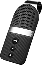Slopehill Bluetooth Car Speaker for Cellphone, Wireless Handsfree Bluetooth Car Speakerphone with Clear Sound for Safely Talking, Driving and Music Streaming, Rechargeable, Visor Clip, Dual 2W Speaker