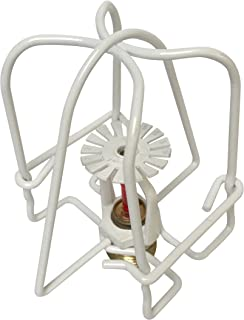 Happy Tree (6 Pack) White Guard Fire Sprinkler Head Cage for 1/2 IPS Head-Double Hook Cover