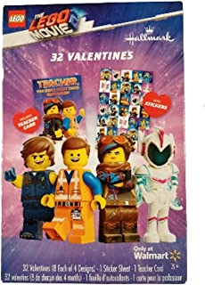 Kids DIY DayCare Homeschooling Sunday School The Lego Movie 32 Valentines Includes Teacher Card /& Stickers Valentines Day Classroom Exchange Gift 8 Each of 4 Designs