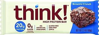 Think Thin Think Thin- Barra De Proteína Sabor Brownie 60g, color, 60 gram, pack of/paquete de 1