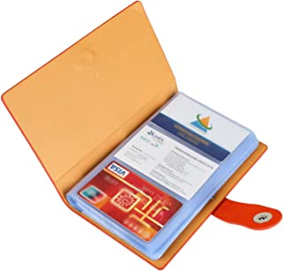 Business Card Organizer, iBayam 300 Slots Business Card Holder Cards Organizer for Gift Cards Pokemon Cards ID Card Visting Card Business Cards(Orange- 300)