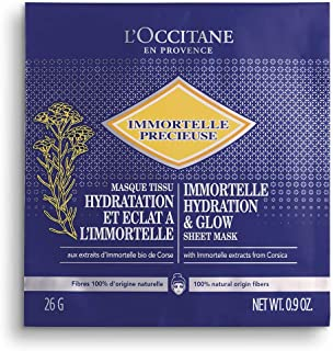 Loccitane Immortelle Hydrating and Glow Sheet Mask, 1 Count