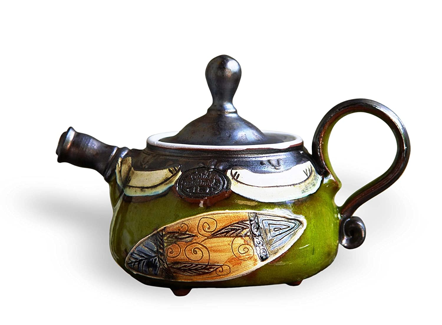 Small Wheel Thrown Pottery Japan Maker New Teapot. a Collectible teapot. Ceramic mart