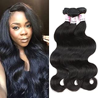 Brazilian Hair Straight 8A Grade 100% Unprocessed Virgin Human Hair 3 Bundles Weave Natural Color(Body Wave Hair,10 12 14 Inch)