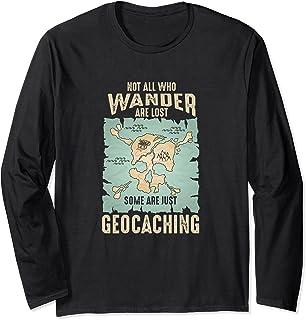 ジオキャッシャー 迷う人ばかりではない 迷子になる ジオキャッシング 長袖Tシャツ
