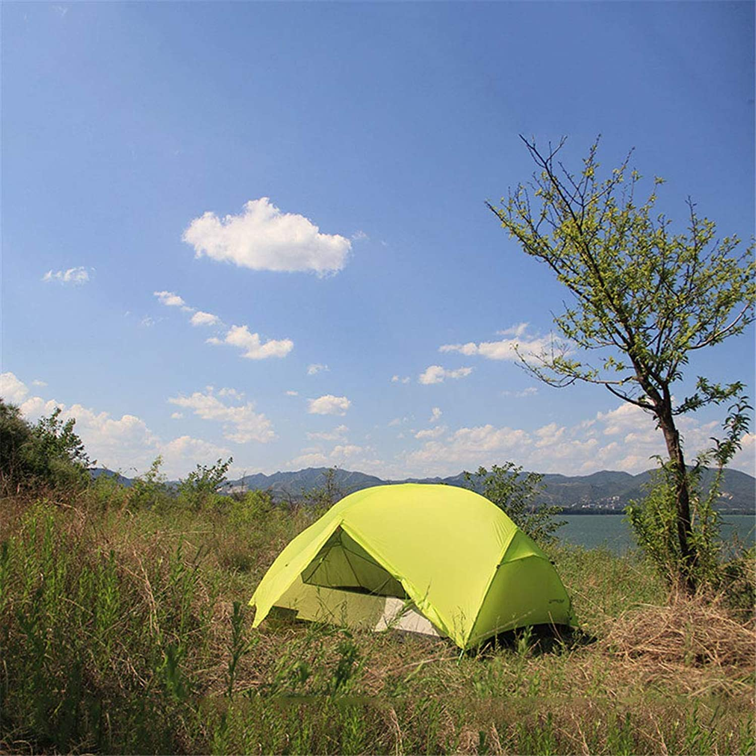 AntiUV,SpaciousTent, 2 Person Camping Tents Outdoor Ultralight Waterproof Double Layer 3 Seasons Hiking Travel Tent