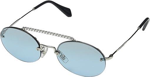 Silver/Azure Gradient Mirror/Black