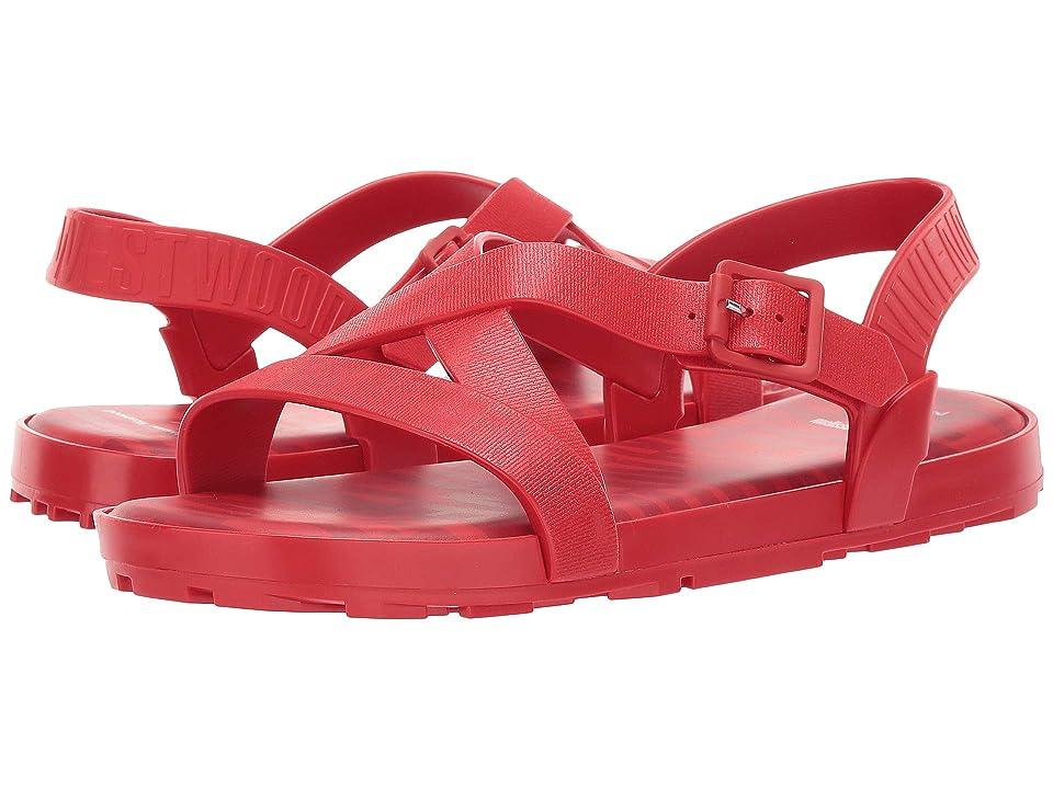 + Melissa Luxury Shoes Vivienne Westwood + Hermanos Flat Sandal (Red) Women