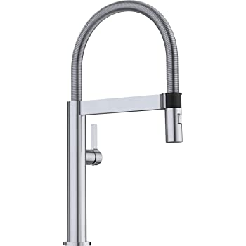 Blanco Satin Nickel 441332 Culina Semi Pro Kitchen Faucet With Magnetic Handspray 2 2 Gpm Touch On Kitchen Sink Faucets Amazon Com