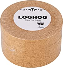 Blank Cork Coaster Set of 12,Round Cork Coaster Set Cup Coaster for Home Bar Restaurant,Both Front and Back Sides Are Blank,4 Diameter