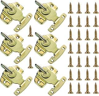 6 Pieces Dining Table Locks, Cooyeah Training Dining Table Connector Door Drawer Cabinet Buckle Hardware Accessories with 30 Pieces Screws.